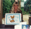 lorri with tiger birthday cake.jpg (49907 bytes)